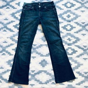 7 For All Mankind 'A' Pocket Flare Dark Faded Jean